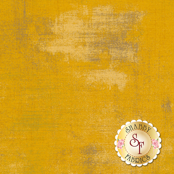 Yellow grunge textured fabric | Shabby Fabrics