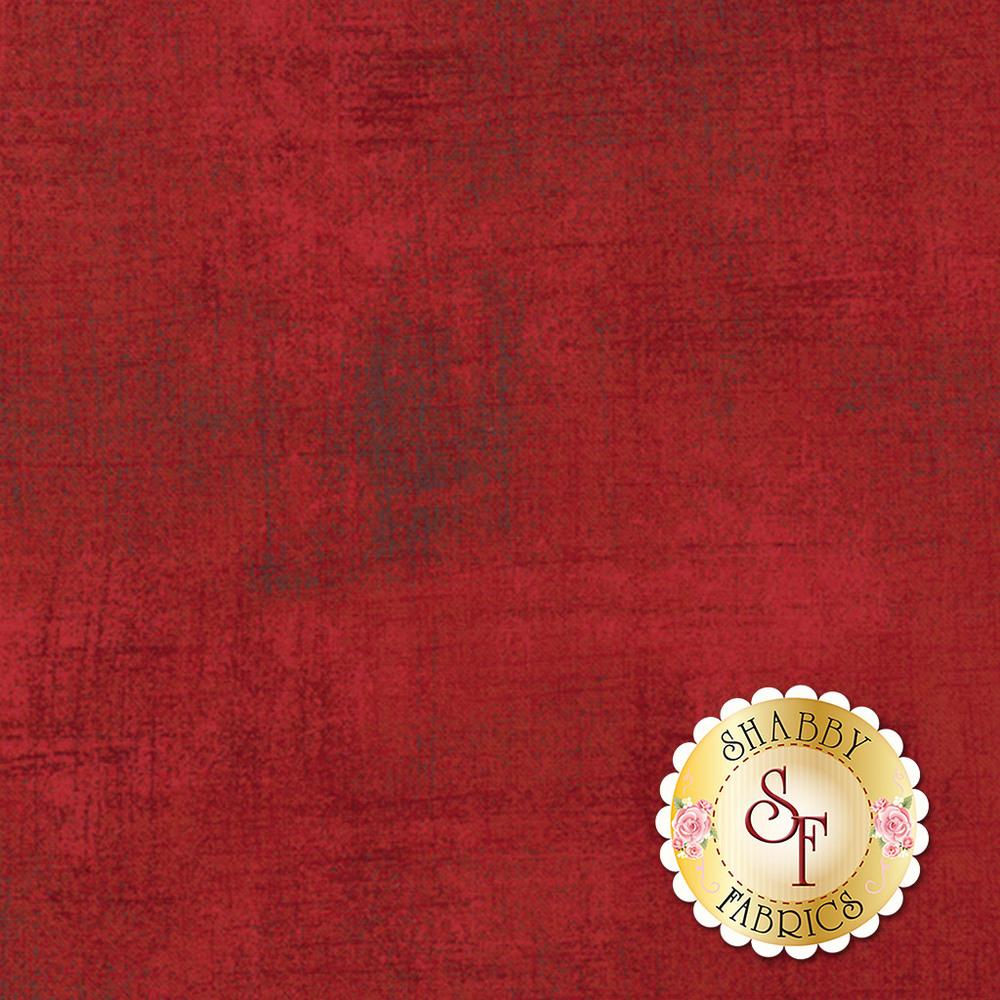 Red grunge textured fabric | Shabby Fabrics