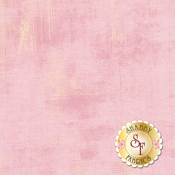 A pastel pink colored grunge textured fabric | Shabby Fabrics