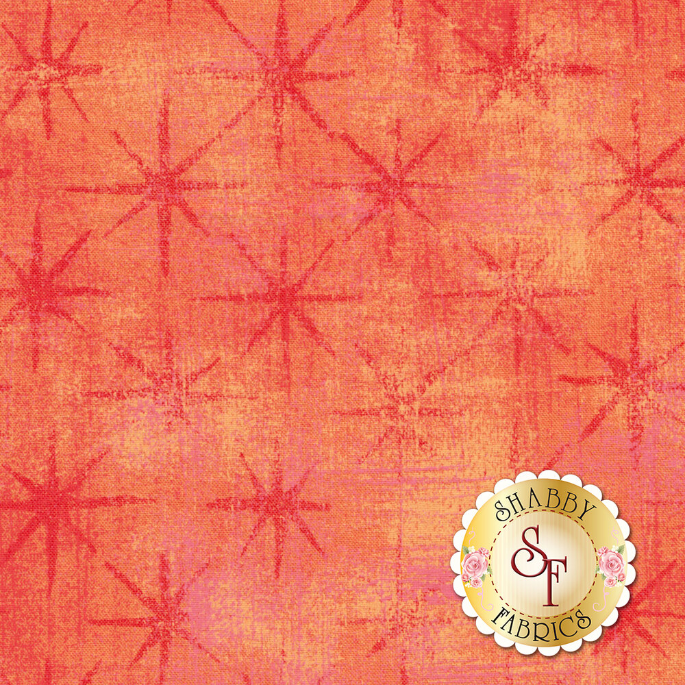 Grunge Seeing Stars 30148-23 Papaya Punch by Moda Fabrics