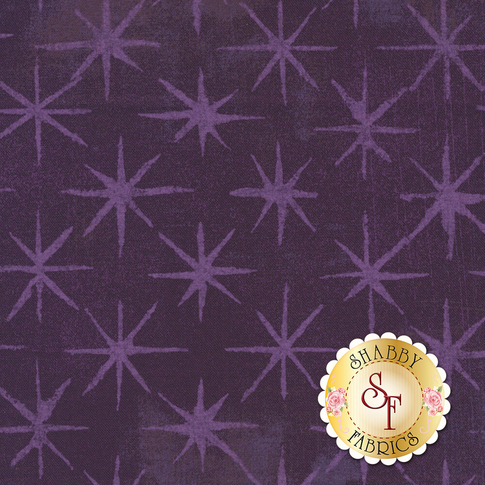 Grunge Seeing Stars 30148-36 Eggplant by Moda Fabrics