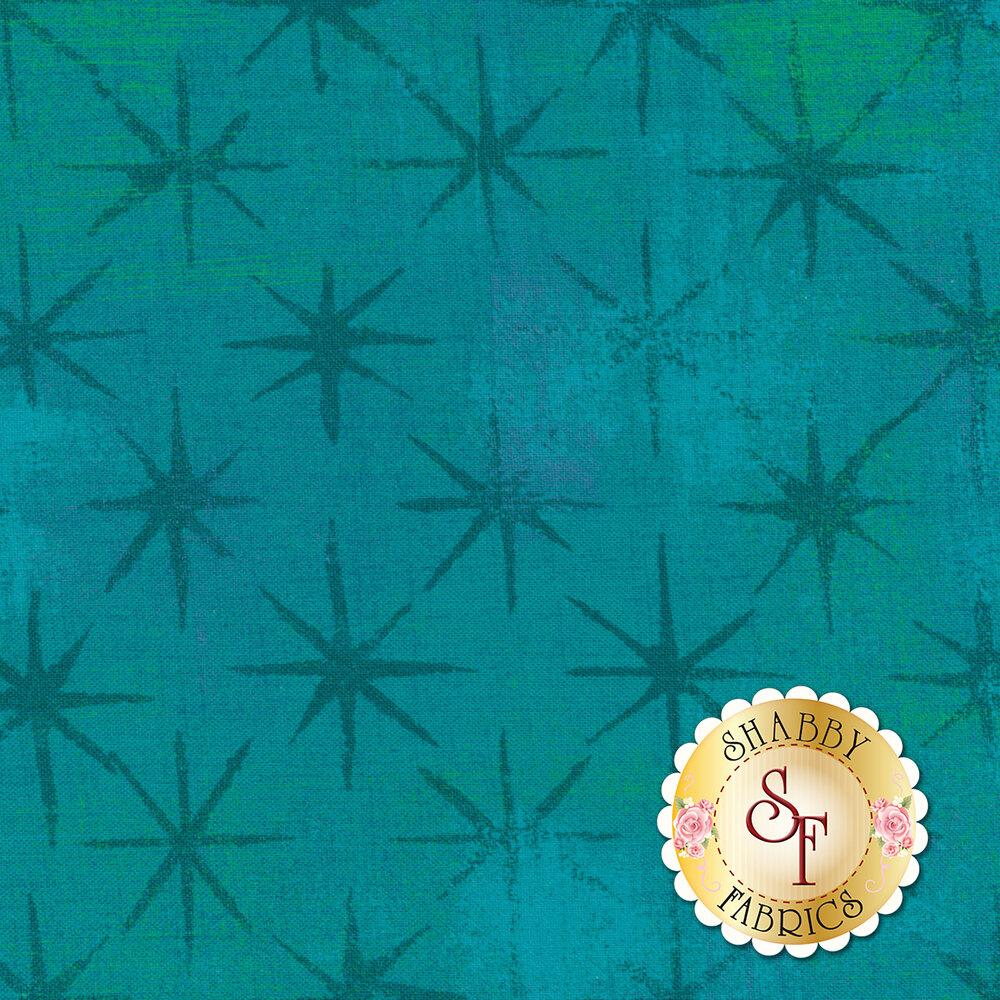 Grunge Seeing Stars 30148-39 Turquoise by Moda Fabrics