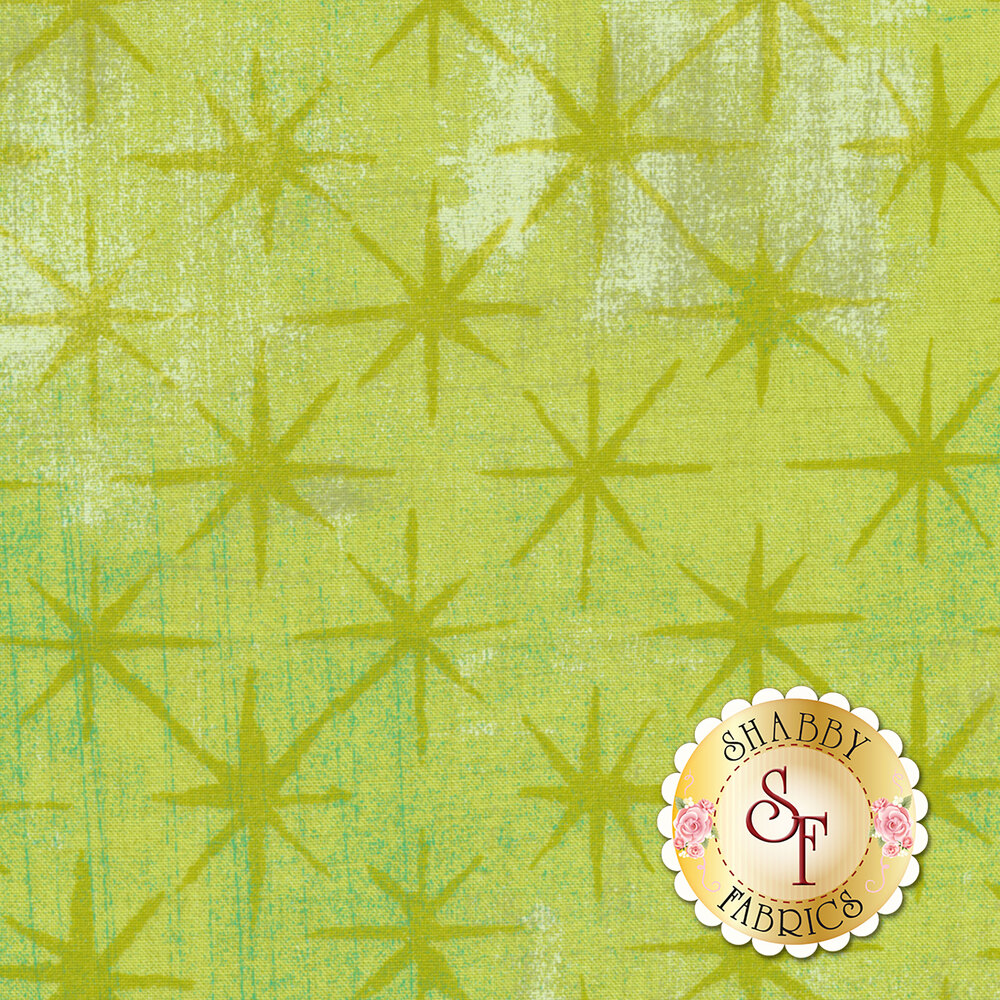 Grunge Seeing Stars 30148-52 Key Lime by Moda Fabrics