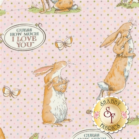 Guess How Much I Love You III  Y2111-41 by Anita Jeram for Clothworks Fabrics