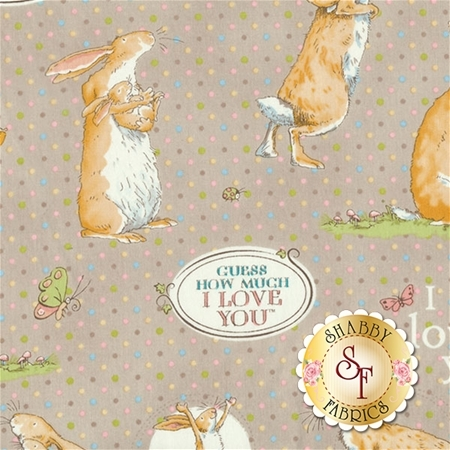Guess How Much I Love You III  Y2111-61 by Anita Jeram for Clothworks Fabrics