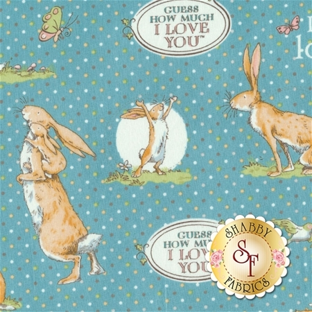 Guess How Much I Love You III  Y2111-97 by Anita Jeram for Clothworks Fabrics