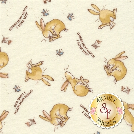 Guess How Much I Love You Flannel Y2322-2 by Clothworks Fabrics