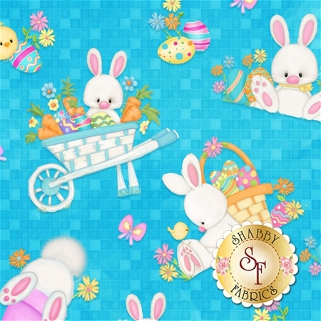 Hop To It! 6857-11 by Shelly Comiskey for Henry Glass Fabrics
