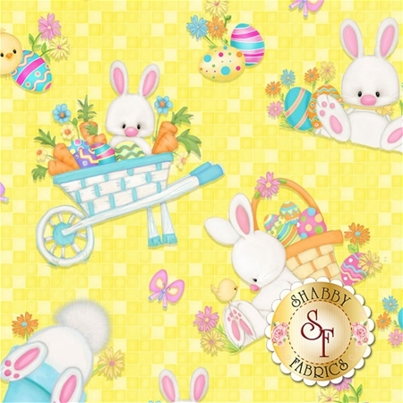 Hop To It! 6857-44 by Shelly Comiskey for Henry Glass Fabrics