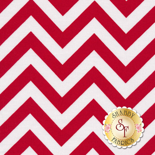 Half Moon Modern Zig Zags 32216-15 Medium Ruby By Moda Fabrics