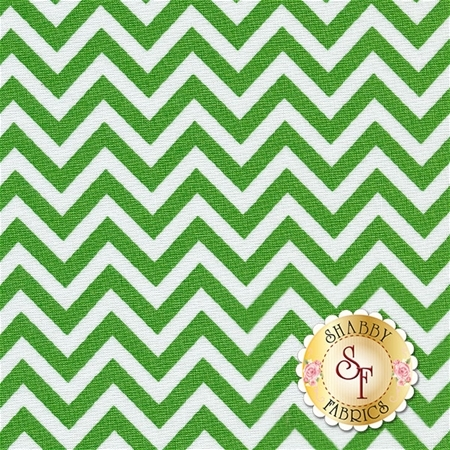 Half Moon Modern Zig Zags 32217-34 Small Kelly By Moda Fabrics