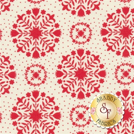 Handmade 55141-11 Red Cream by Bonnie & Camille for Moda Fabrics