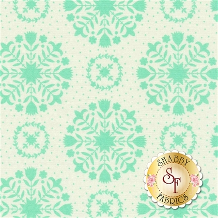 Handmade 55141-12 Aqua Cream by Bonnie & Camille for Moda Fabrics