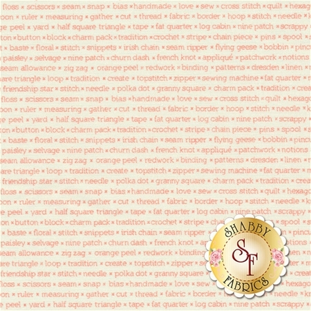 Handmade 55147-13 Coral Cream by Bonnie & Camille for Moda Fabrics