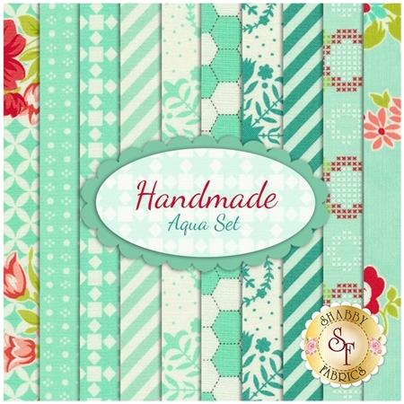 Handmade  10 FQ Set - Aqua Set by Bonnie & Camille for Moda Fabrics