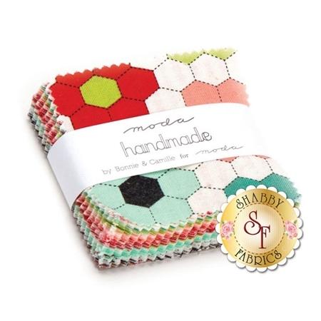 Handmade  Mini Charm Pack by Bonnie & Camille for Moda Fabrics