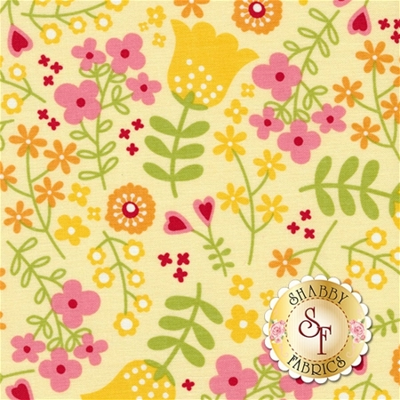 Happy Day C5910-YELLOW by Lori Whitlock for Riley Blake Designs