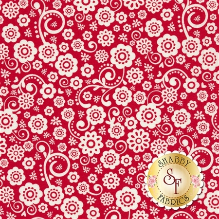 Happy Day C5911-RED by Lori Whitlock for Riley Blake Designs