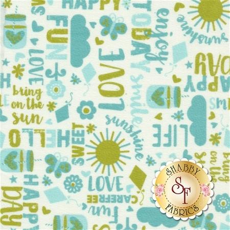 Happy Day C5912-AQUA by Riley Blake Designs- REM
