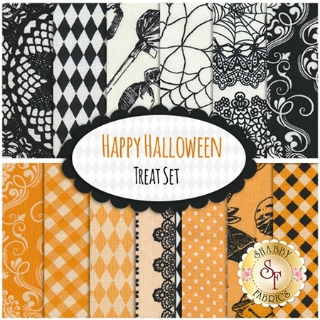 Happy Halloween   13 FQ Set - Treat Set by Patrick Lose Fabrics