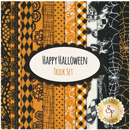 Happy Halloween   12 FQ Set - Trick Set by Patrick Lose Fabrics