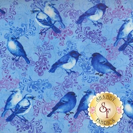 Harmony C5547-Blue by Timeless Treasures Fabrics