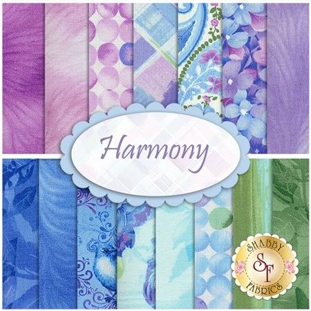 Harmony  15 FQ Set by Timeless Treasures Fabrics