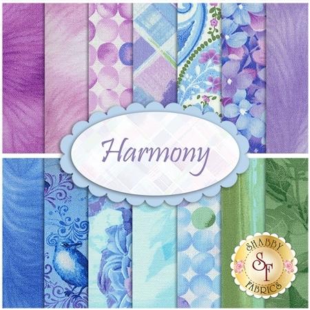 Harmony  14 FQ Set by Timeless Treasures Fabrics