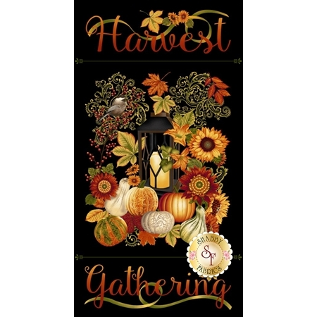 Harvest Gathering 8768P-99 Black by Color Principle for Henry Glass Fabrics