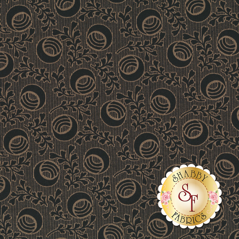 Harvest Moon 8846-KN Light Black Moon Vines by Andover Fabrics