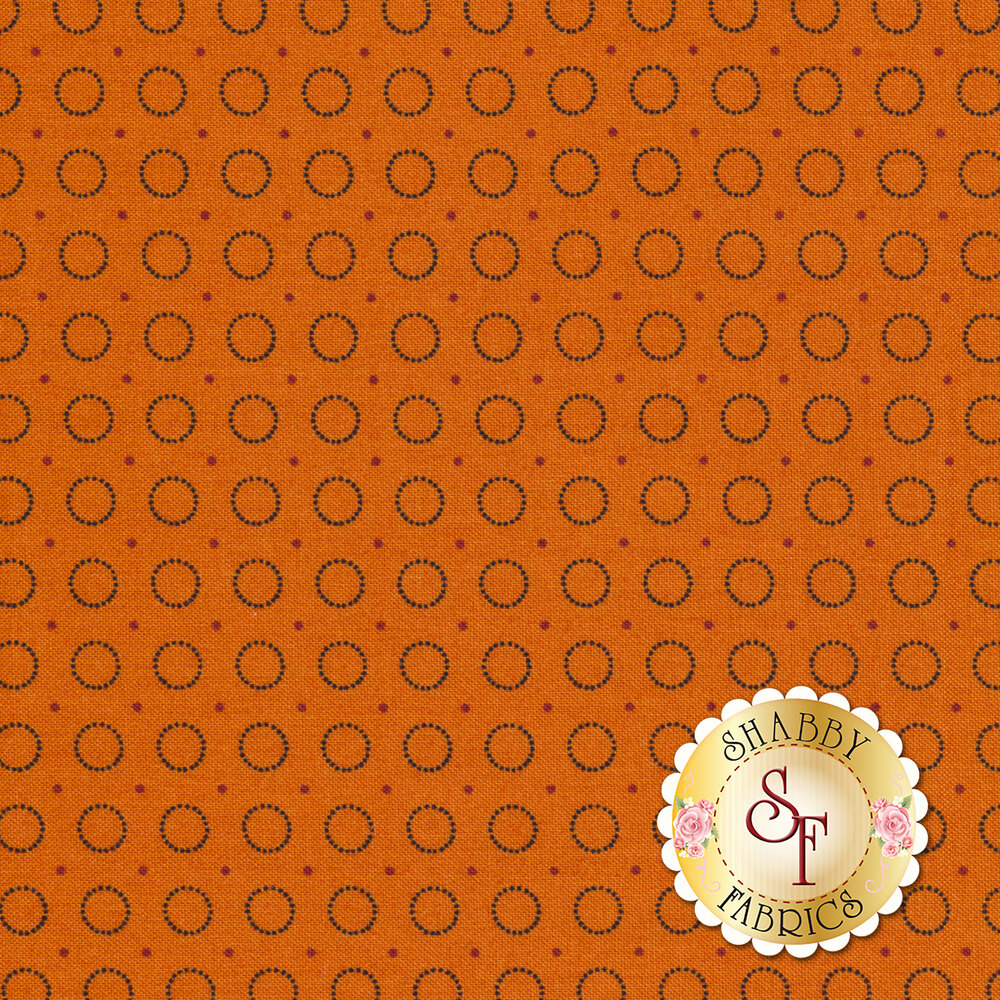 Harvest Moon 8849-O Orange Ring Of Dots by Andover Fabrics