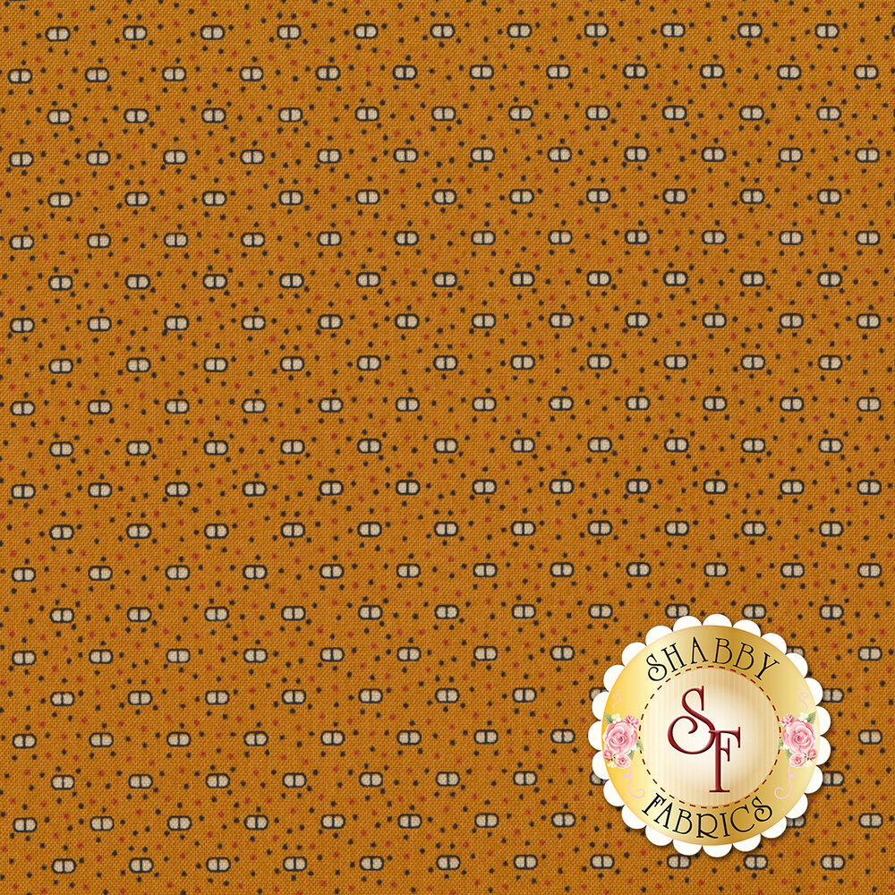 Harvest Moon 8851-O1 Orange Cat Eyes by Andover Fabrics