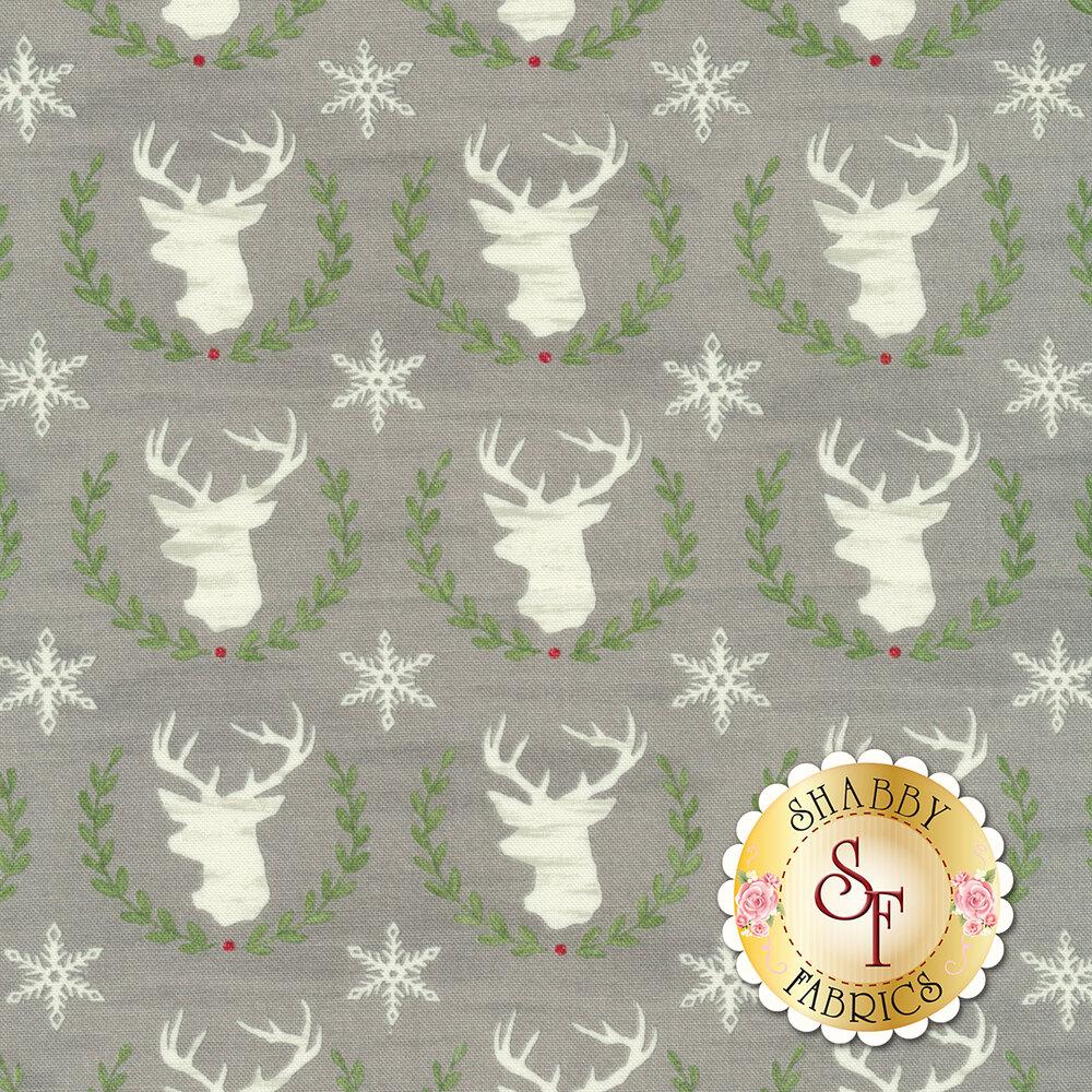 Hearthside Holiday 19832-12 Christmas Slate Grey for Moda Fabrics