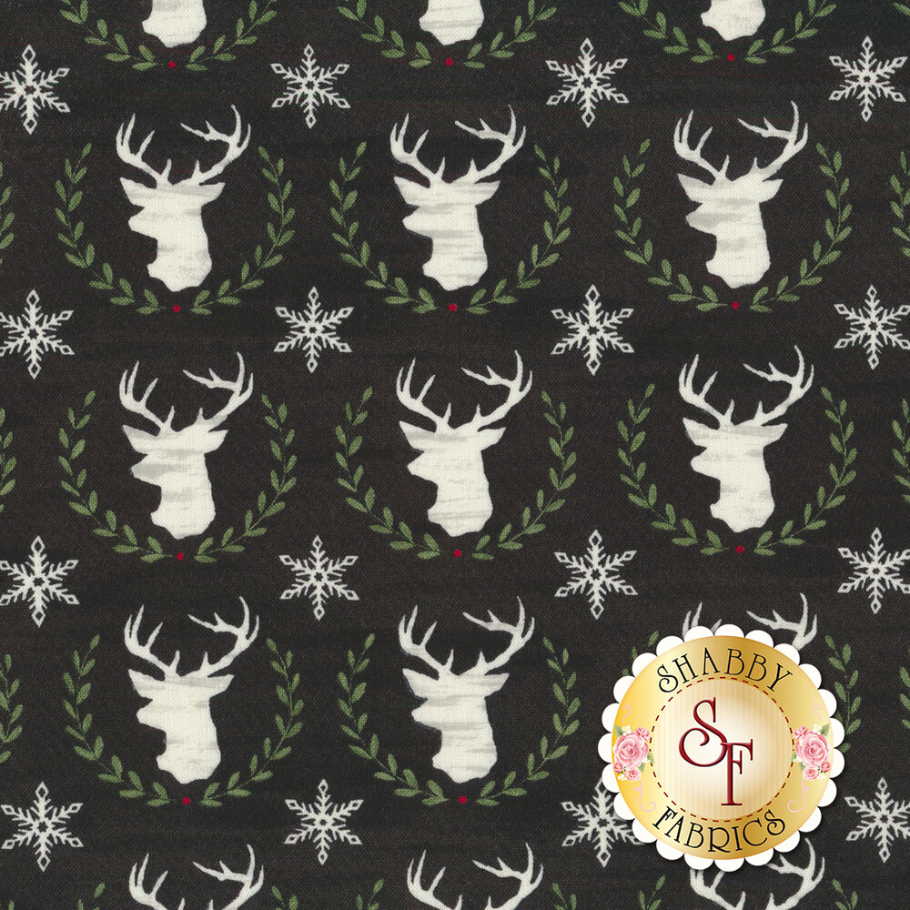 Hearthside Holiday 19832-13 Charcoal Black for Moda Fabrics