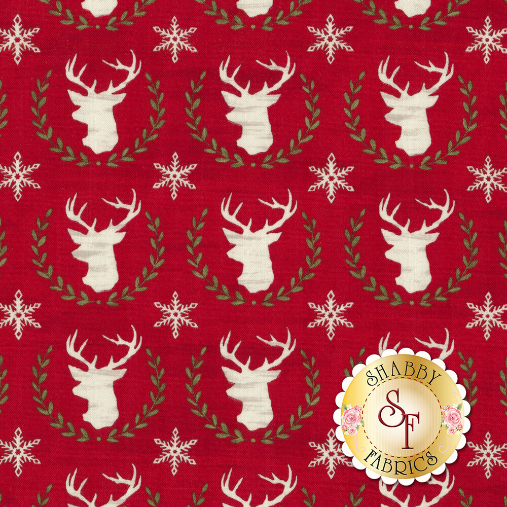 Hearthside Holiday 19832-14 Holiday Berry Red for Moda Fabrics