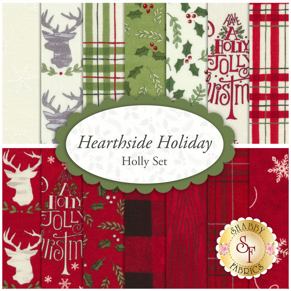 Hearthside Holiday  14 FQ Set - Holly Set for Moda Fabrics