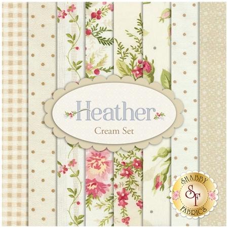 Heather  8 Half Yard Set - Cream Set by Jennifer Bosworth for Maywood Studio Fabrics