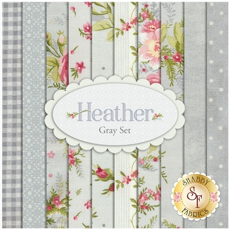 Heather  10 Half Yard Set - Gray Set by Jennifer Bosworth for Maywood Studio