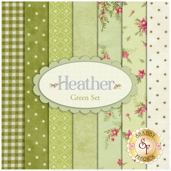 Heather   7 FQ Set - Green Set by Jennifer Bosworth for Maywood Studio