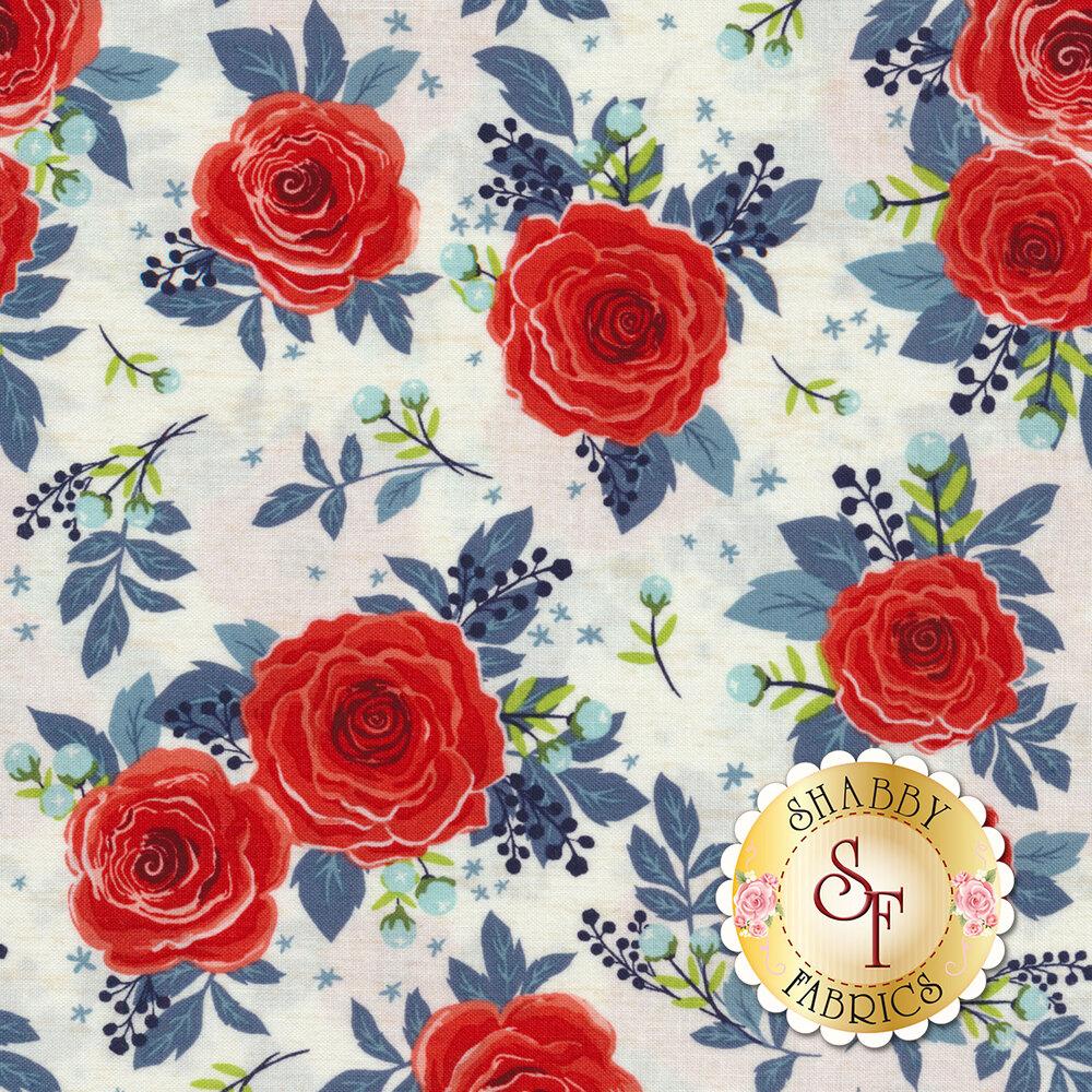 Rose Hedge C7900-CREAM Main Cream from Penny Rose Fabrics by Kelly Panacci