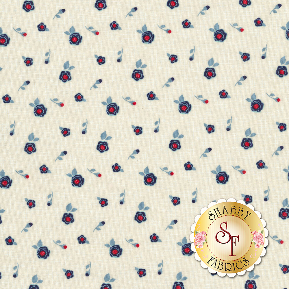 Rose Hedge C7902-CREAM Hashtag Cream from Penny Rose Fabrics by Kelly Panacci