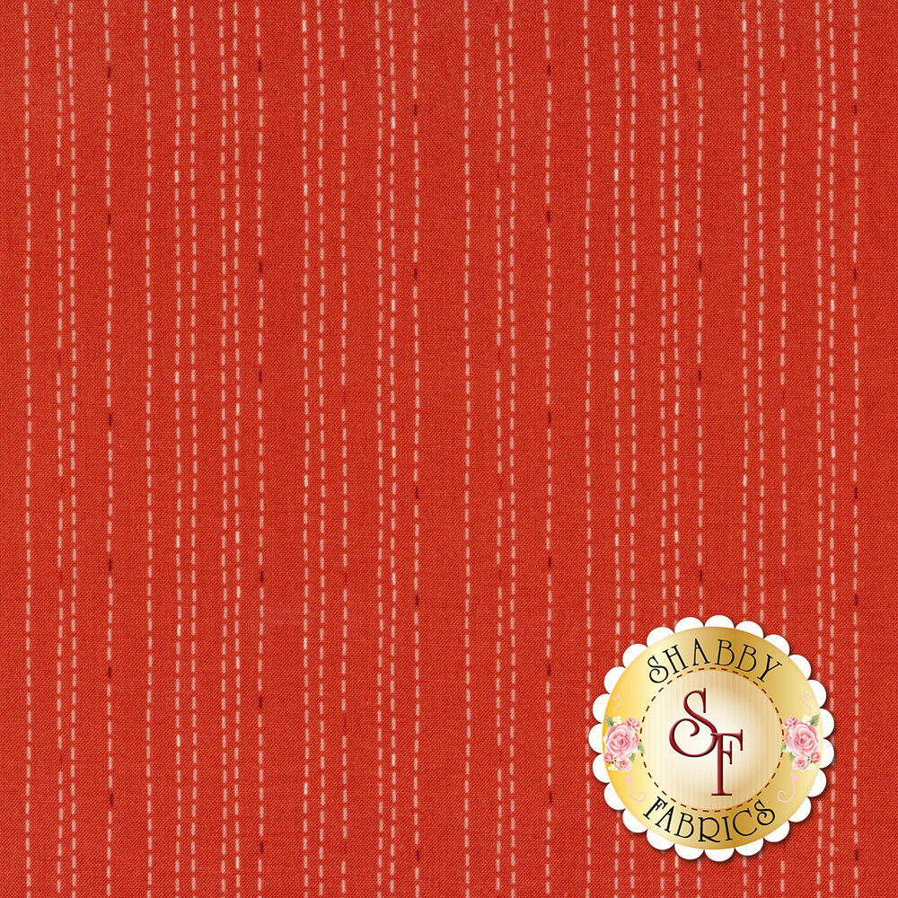 Rose Hedge C7904-CORAL Stitches Coral from Penny Rose Fabrics by Kelly Panacci