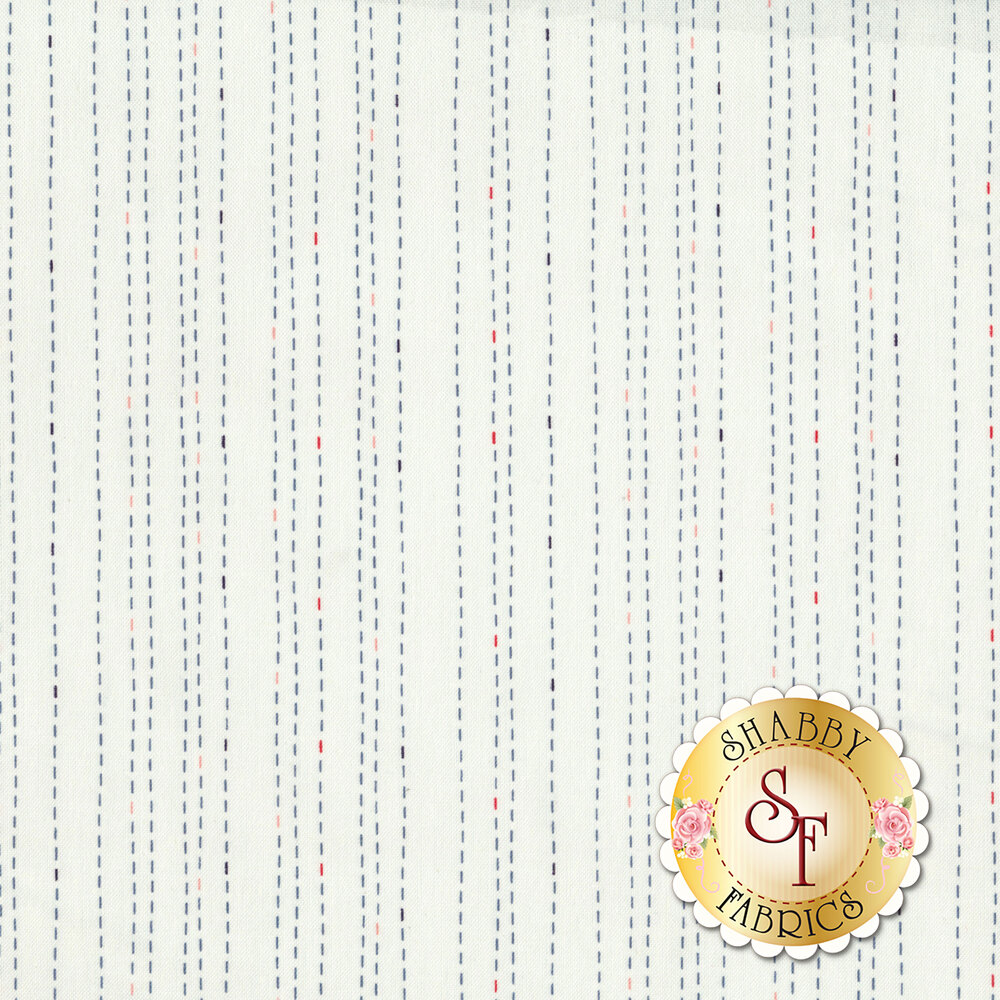 Rose Hedge C7904-CREAM Stitches Cream from Penny Rose Fabrics by Kelly Panacci