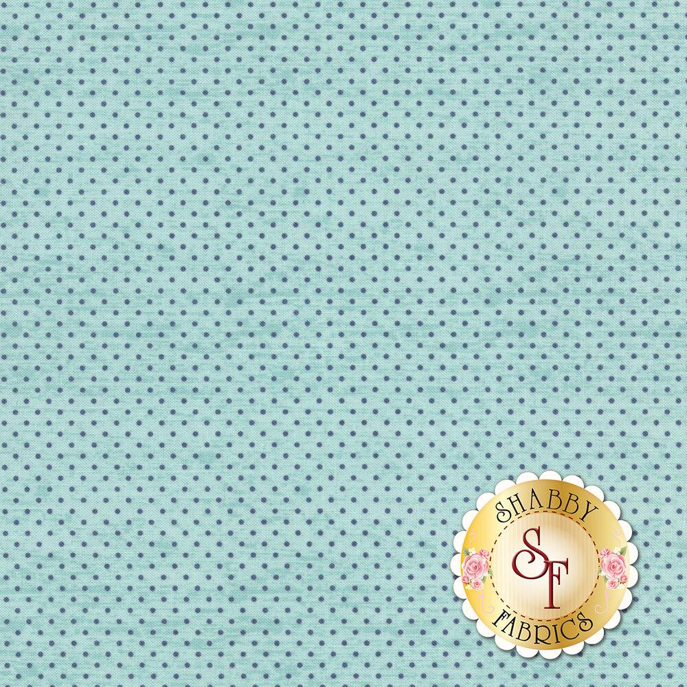 Rose Hedge C7905-AQUA Dot Aqua from Penny Rose Fabrics by Kelly Panacci