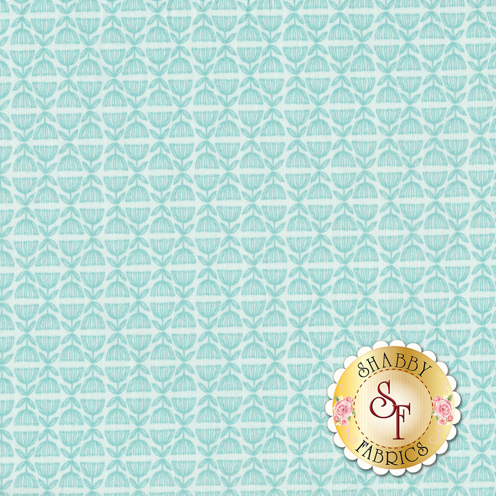 Tonal light blue design | Shabby Fabrics