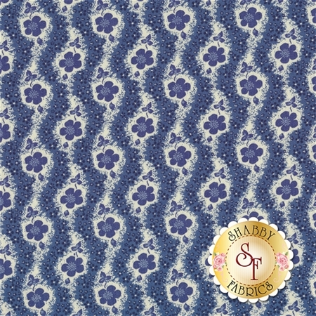 Heritage 540-55 Blue by Dover Hill Studio for Benartex Fabrics REM