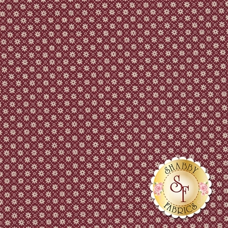 Heritage 544-87 Essex Burgundy by Dover Hill Studio for Benartex Fabrics