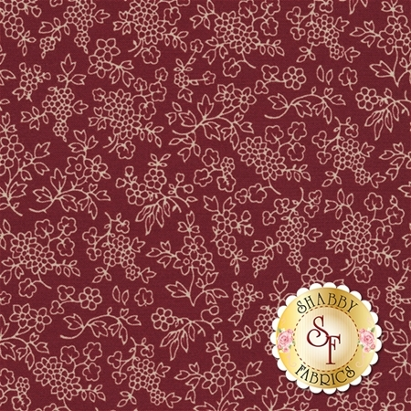 Heritage 545-87 Bristol Burgundy by Dover Hill Studio for Benartex Fabrics