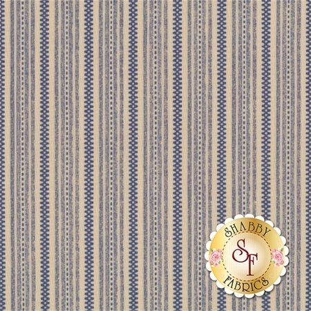 Heritage 549-50 Weston Ecru/Blue by Dover Hill Studio for Benartex Fabrics
