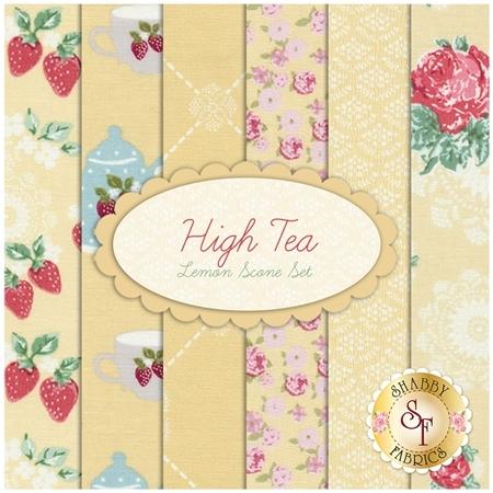 High Tea  6 FQ Set - Lemon Scone Set by Jera Brandvig for Lecien Fabrics